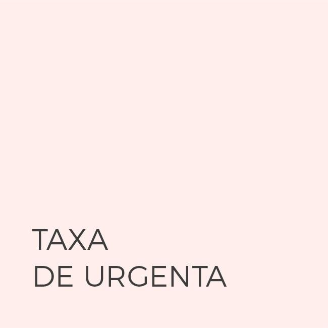 TAXA DE URGENTA