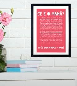 Cadou pentru mama - Tablou personalizat cu versuri - Ce e o mama 1