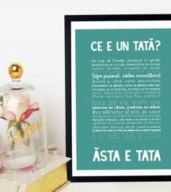 Cadou pentru tata - Tablou personalizat cu versuri - Ce e un tata 1