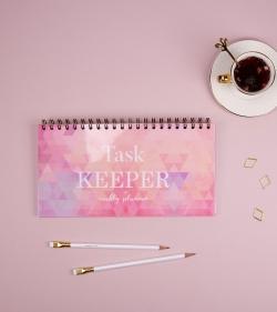 Planner pentru task-uri - Task Keeper-Kaleidoscopic Pink_planner saptamanal_organizare_agenda programari_catbox_1