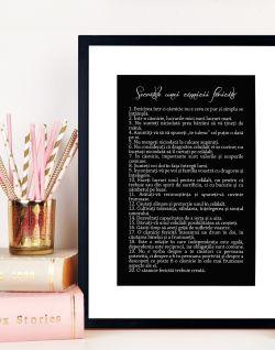 Cadou de nunta - Tablou - Secretele casniciei fericite 3
