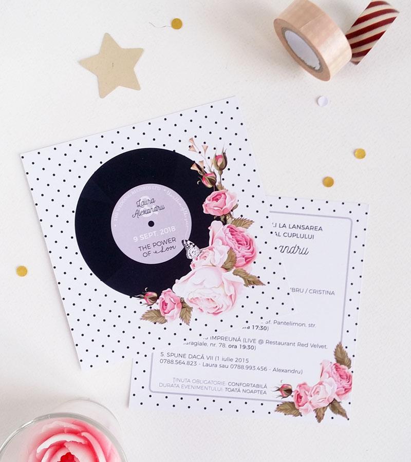Ladycozacro Invitatie De Nunta Personalizata Love Song