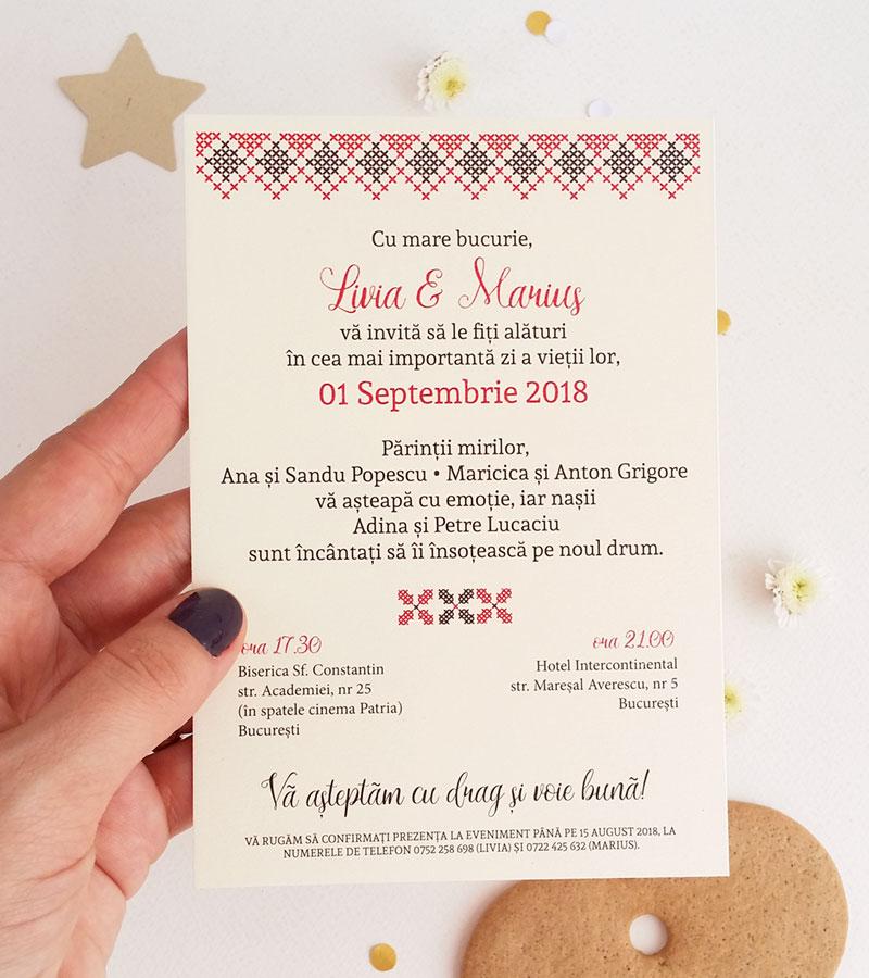 Ladycozacro Invitatie De Nunta Traditionala Nunta La Romani